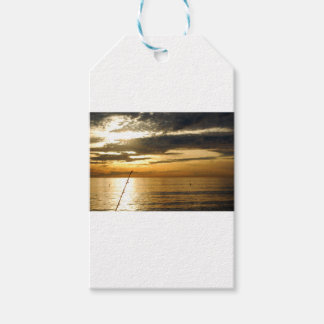 golden pacific sunset gift tags