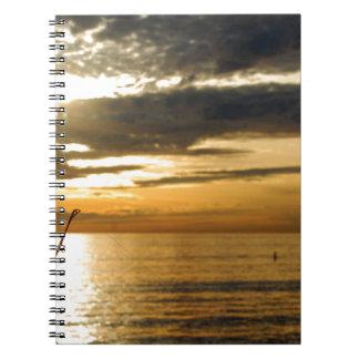 golden pacific sunset notebook