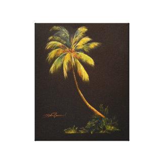 "Golden Palm 1 8"" x 10"" Canvas Print"