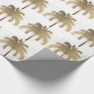 Golden Palm Trees Wrapping Paper