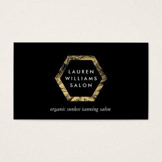 Golden Palms Spray Tanning Salon Logo on Black