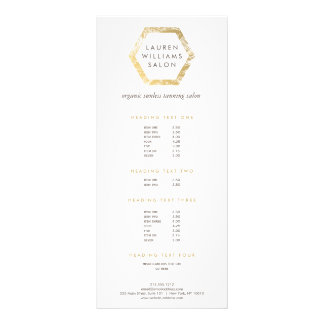 Golden Palms Spray Tanning Salon Logo on White Rack Card