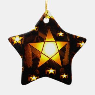 Golden Parol Ceramic Ornament