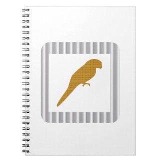 GOLDEN Parrot Pet Fairrytale Bird NVN279 FUN Kids Note Books