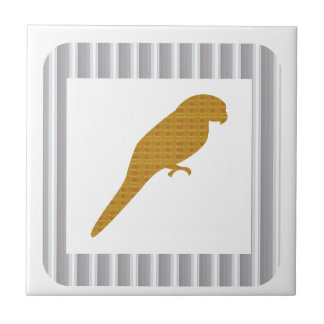 GOLDEN Parrot Pet Fairrytale Bird NVN279 FUN Kids Small Square Tile