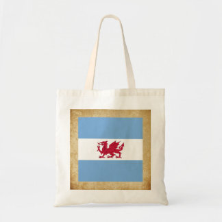 Golden Patagonia Flag Budget Tote Bag