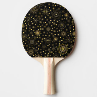 Golden Pattern Ping Pong Paddle