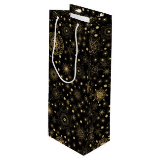 Golden Pattern Wine Gift Bag