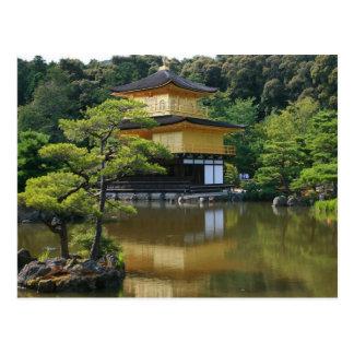 Golden Pavilion Temple in Kinkaku Postcard
