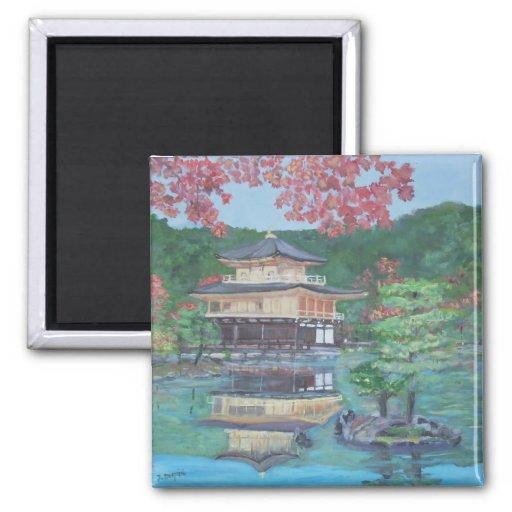 Golden Pavillion in Kyoto Magnets
