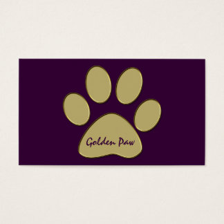 golden paw business card