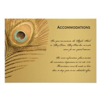 Golden Peacock Accomodations Card Invite