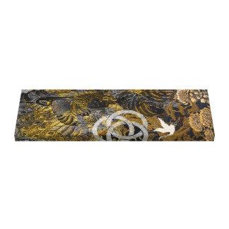 Golden Peacock Canvas Print