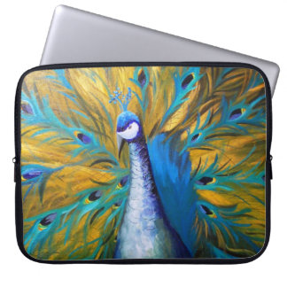Golden Peacock - Kimberly Turnbull Art Laptop Sleeve