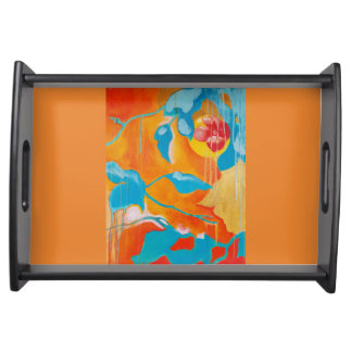 Golden Persimmon I Serving Tray