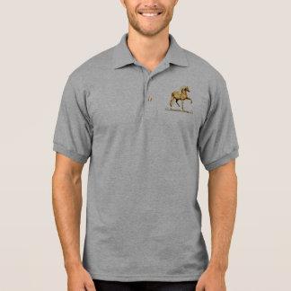 Golden Peruvian Horse Polo Shirt