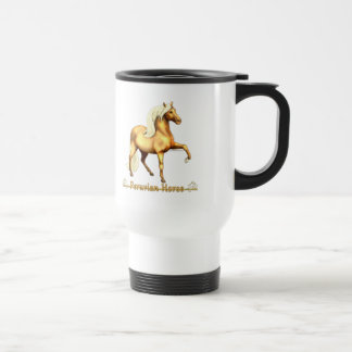 Golden Peruvian Horse Travel Mug