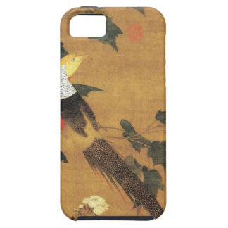 Golden Pheasant and Cotton Rose Flowers by Emperor iPhone 5 Case