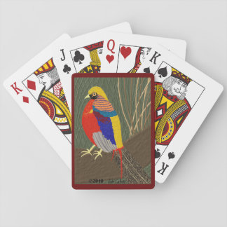 Golden Pheasant Playing Cards