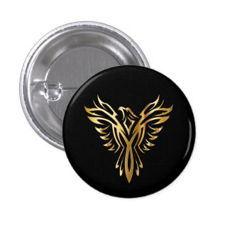 Golden Phoenix 3 Cm Round Badge