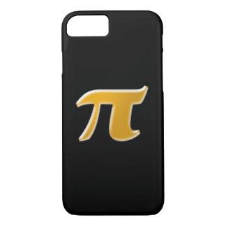 Golden PI on Black iPhone 7 Case