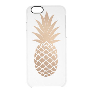 Golden Pineapple Clear iPhone 6/6S Case