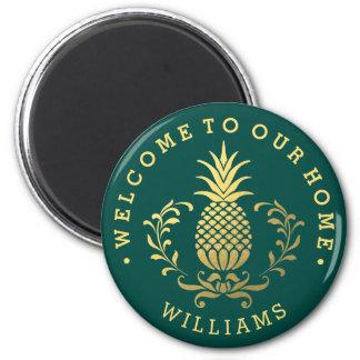 Golden Pineapple | Elegant Welcome Magnet