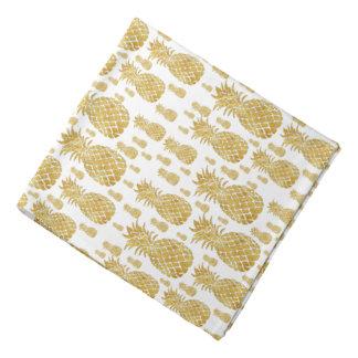 golden pineapples pattern bandanas
