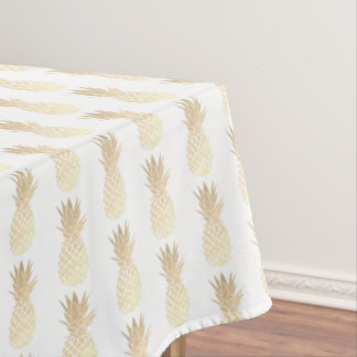 golden pineapples pattern tablecloth
