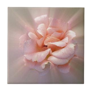 Golden pink ceramic tile
