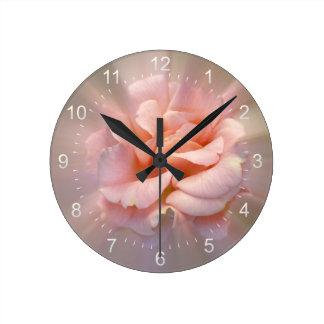 Golden pink round clock