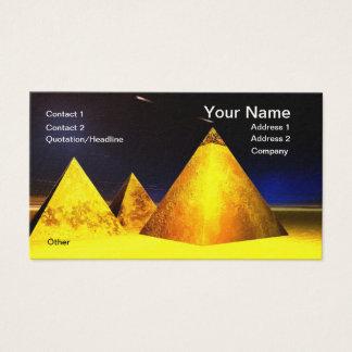 Golden Piramids BusinessCard Business Card
