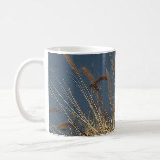 Golden Plant on Dark Sky Mugs