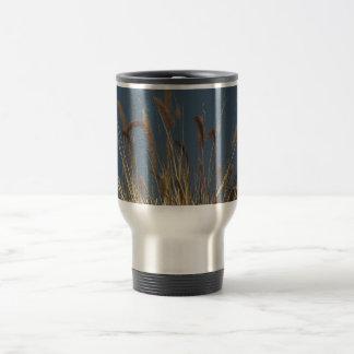 Golden Plant on Dark Sky Stainless Steel Travel Mug