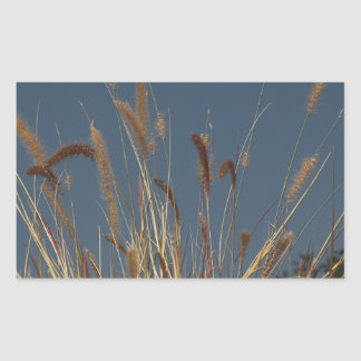 Golden Plant on Dark Sky Rectangle Stickers