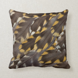 Golden Plover Feathers Cushion