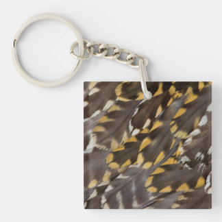Golden Plover Feathers Key Ring