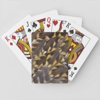 Golden Plover Feathers Playing Cards