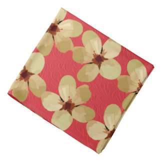 Golden Plum Blossoms Bandanas