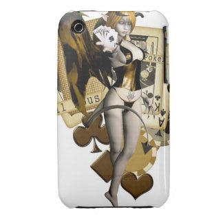 Golden Poker Girl 2 iPhone 3 Cover