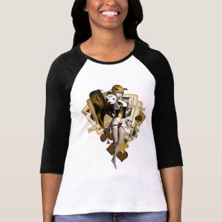 Golden Poker Girl 2 T Shirt
