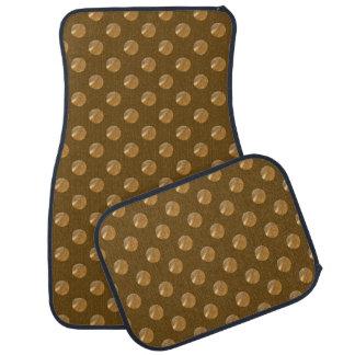 Golden polka dots. car mat