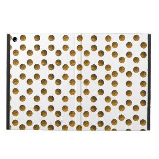 Golden Polka dots iPad Air Case with No Kickstand