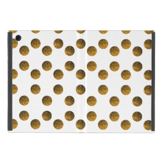 Golden Polka dots iPad Mini Case with No Kickstand