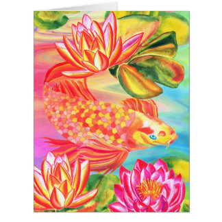 Golden pond design all occasions greeting card