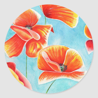 Golden Poppies in the Sky decorative stickers