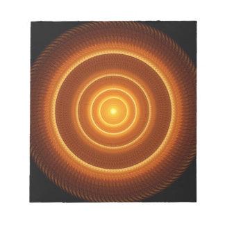 Golden Pulse Mandala Notepads
