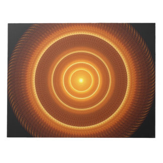 Golden Pulse Mandala Notepads