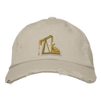Golden Pumpjack Embroidered Cap