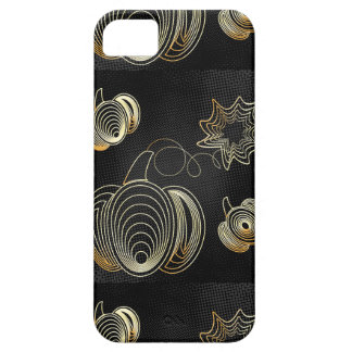 Golden pumpkin on black grunge background barely there iPhone 5 case